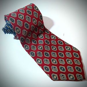 Tommy Hilfiger men's neck tie two tone crest